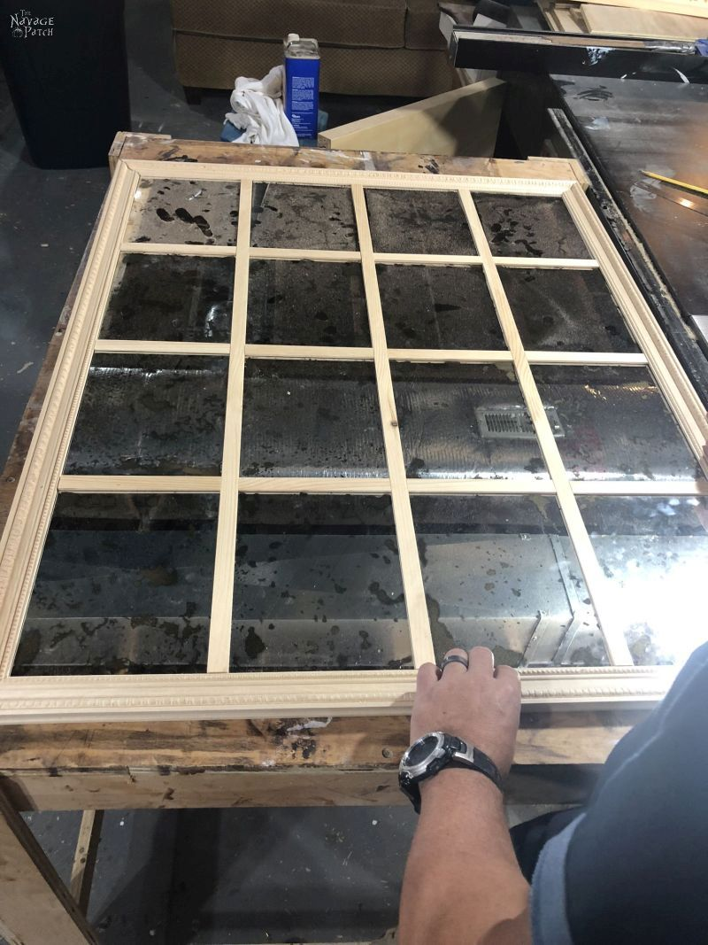 fitting the pieces for a diy panel mirror