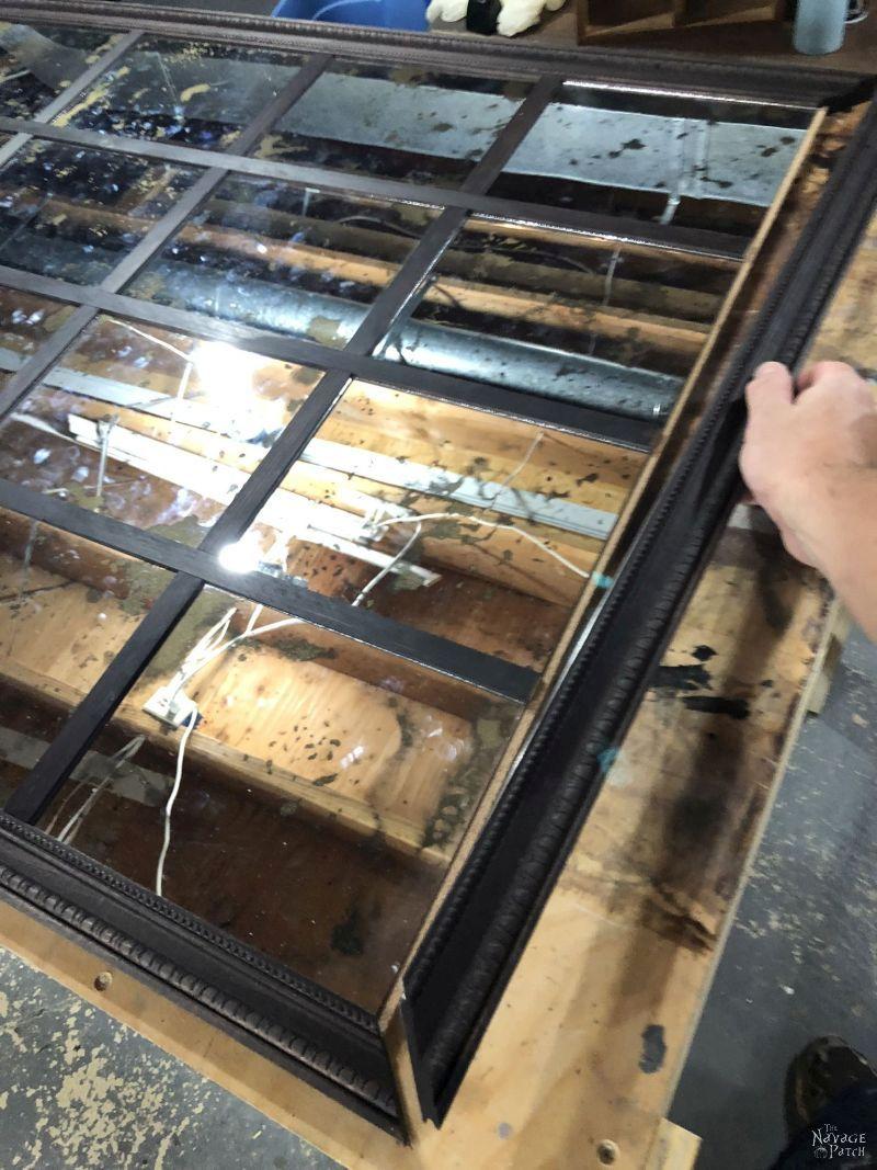 building a diy antiqued panel mirror