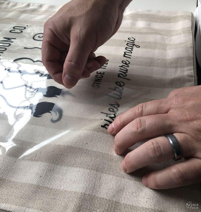 making diy iron-on halloween pillows