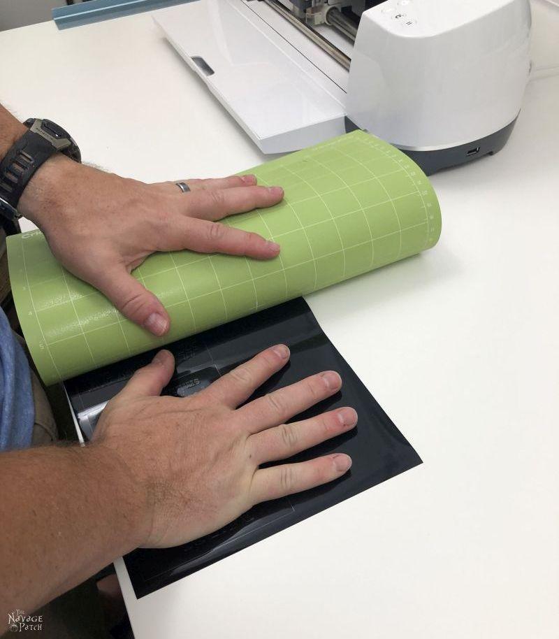 peeling a design off a cricut mat