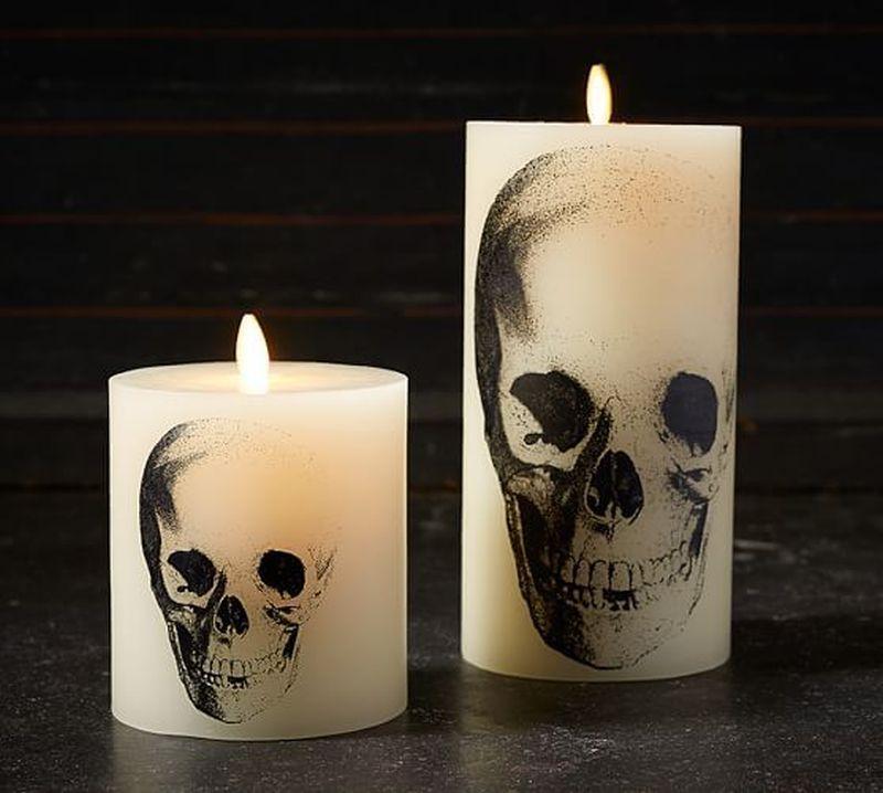 Pottery Barn Halloween Candles