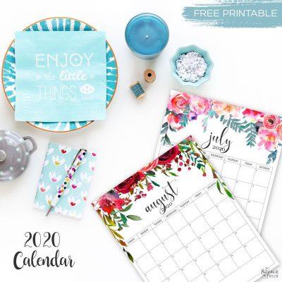 free printable calendar 2020
