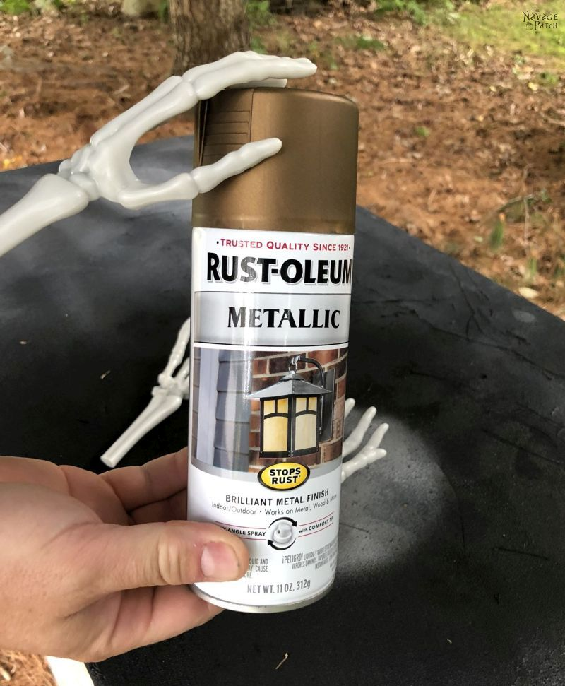 spray paint for skeleton arms