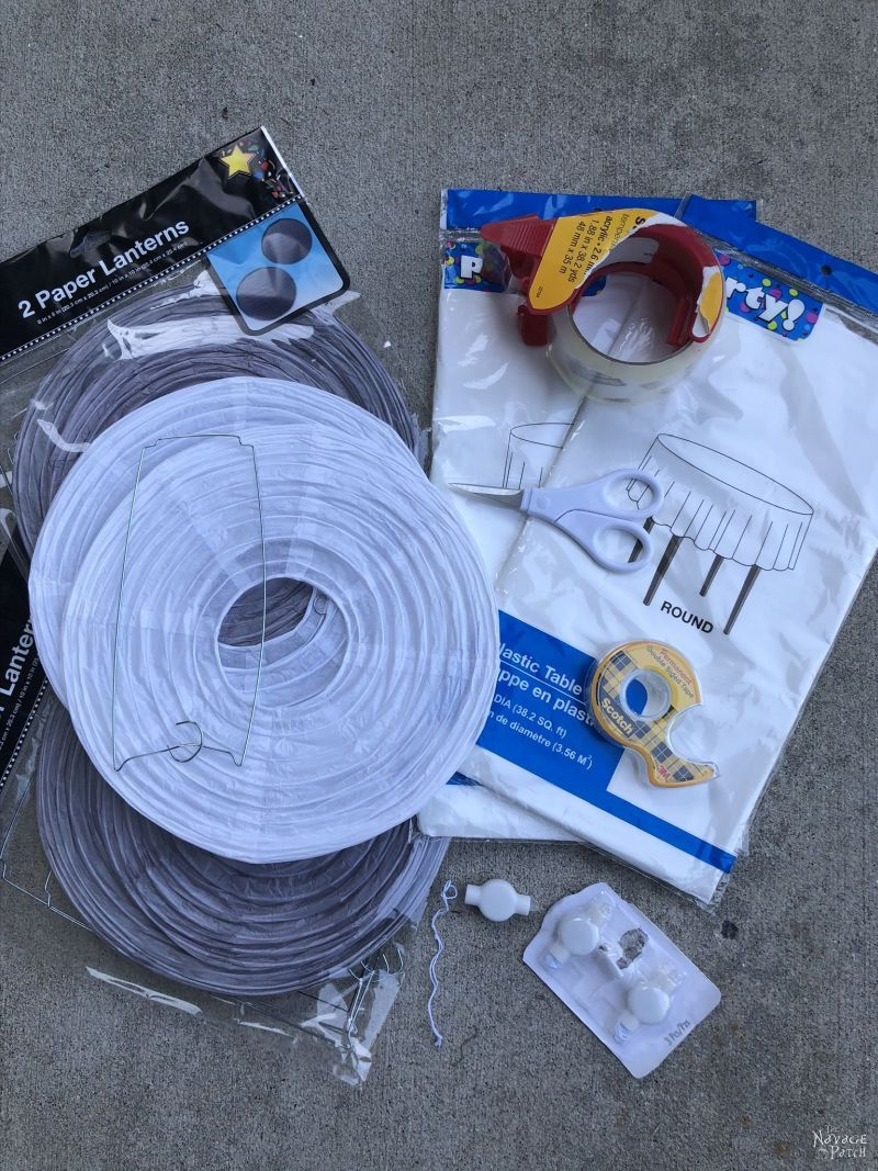 supplies for hanging ghosts