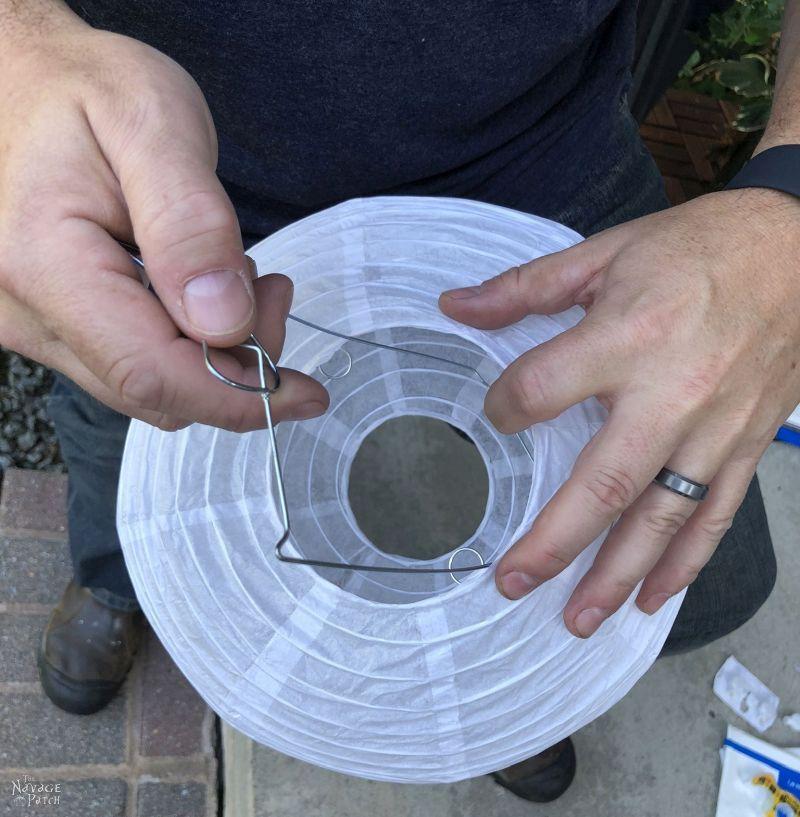 assembling a paper lantern