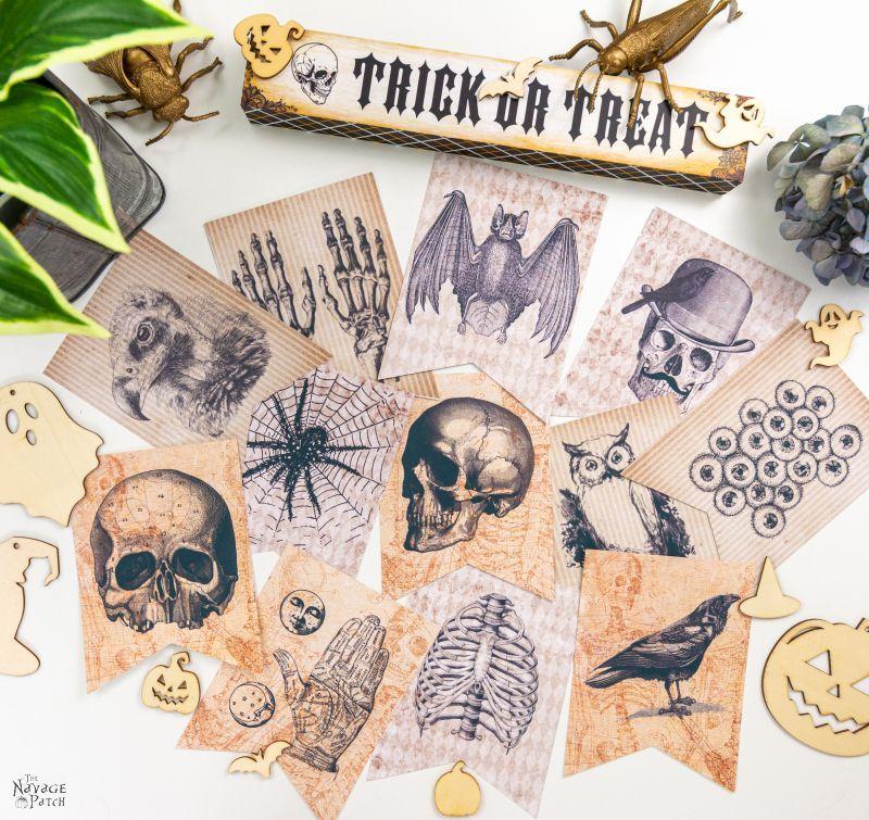 printable halloween garlands