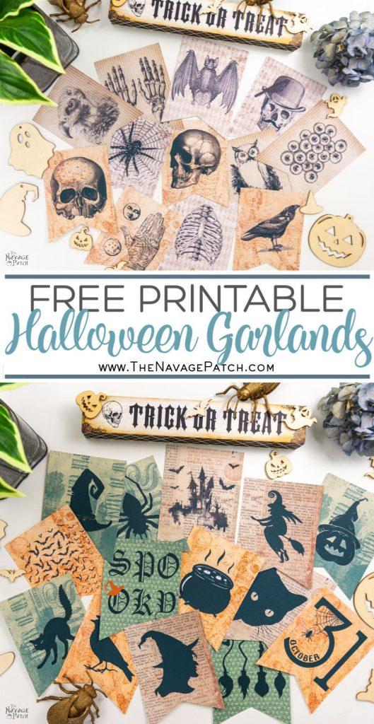 Printable Halloween Garlands - Pin image TNP