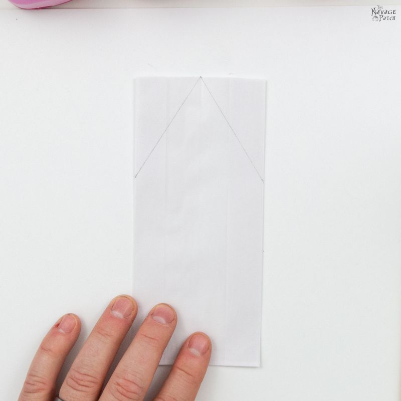 white paper bag on a table