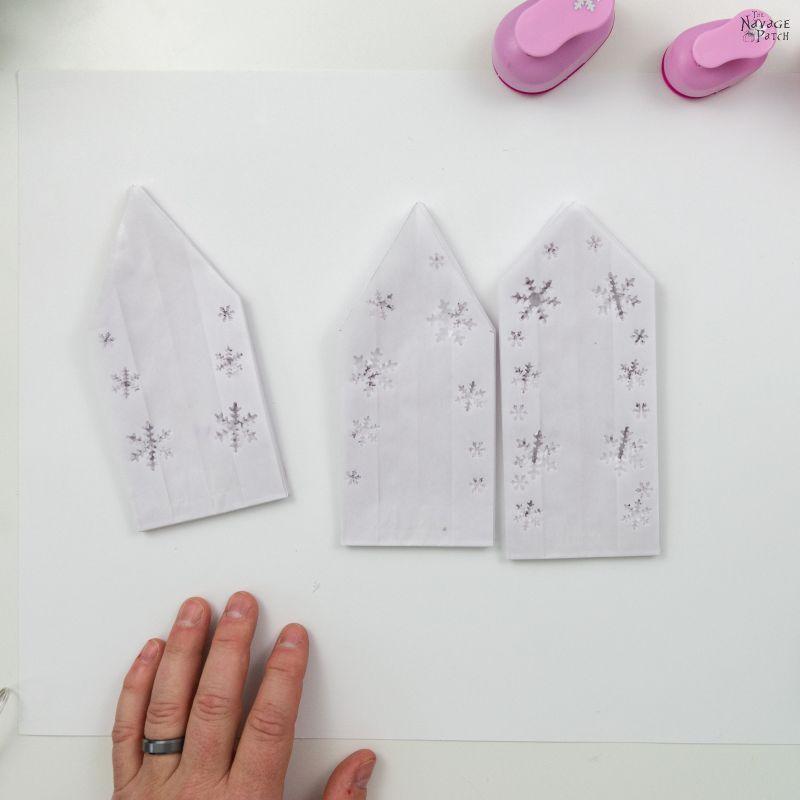 making 3-d paper snowflake stars