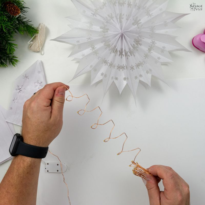 unravelling fairy string lights