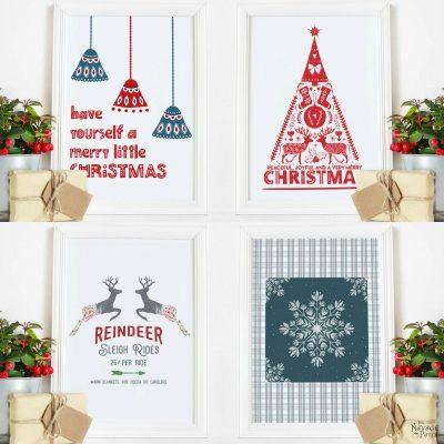 Free Scandinavian Christmas Printables by TheNavagePatch.com