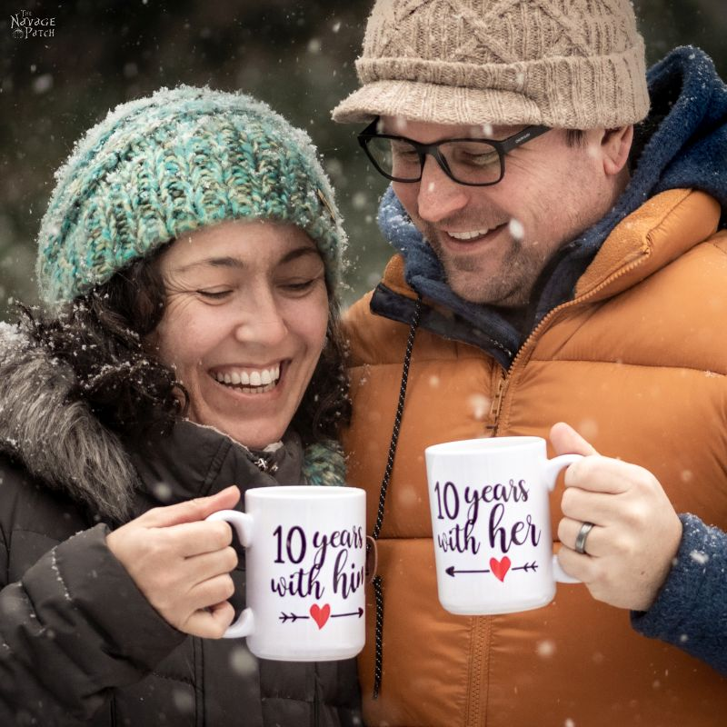 DIY Cricut Infusible Ink Valentine Mugs - TheNavagePatch.com