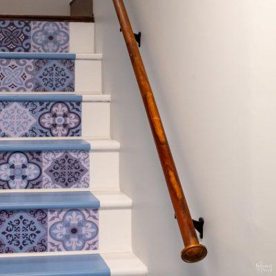 upcycled diy handrail