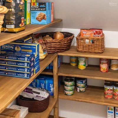 DIY Pantry Shelves