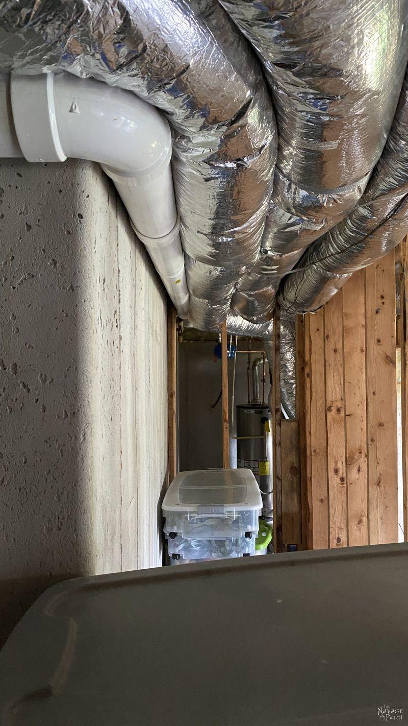 pvc pipe of a radon mitigation system