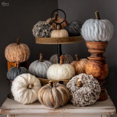 Easy DIY Yarn Pumpkins - TheNavagePatch.com