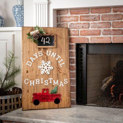 DIY Christmas Countdown - TheNavagePatch.com