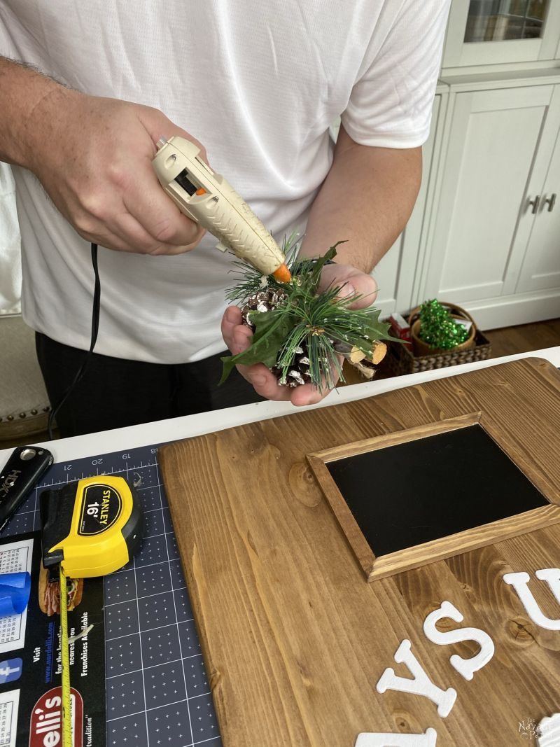 making a christmas counter