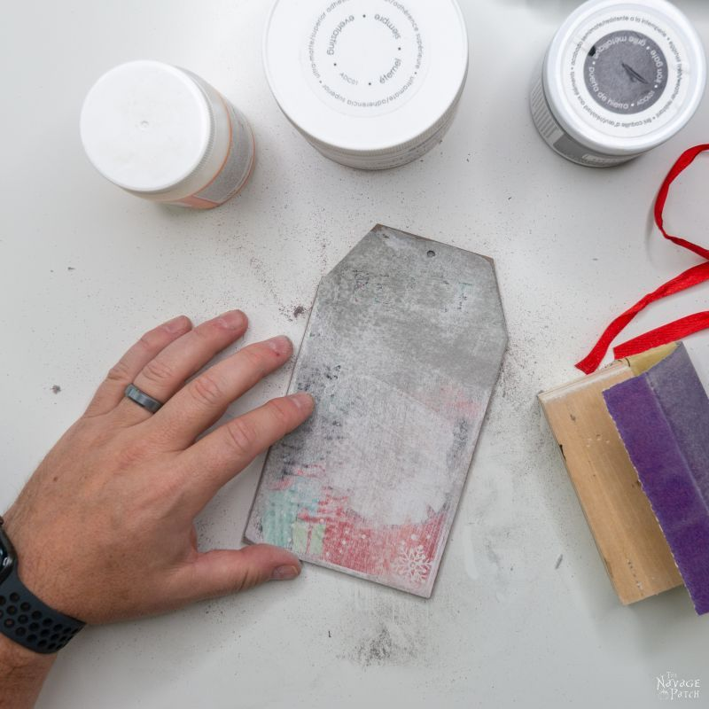 sanded gift tag