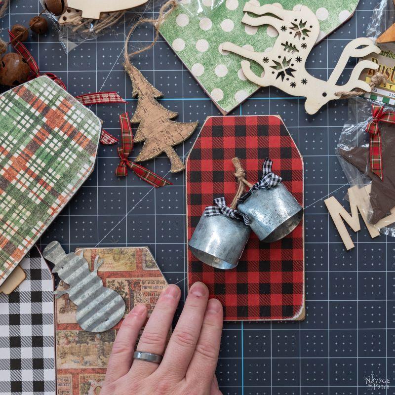 makinga dollar store christmas garland