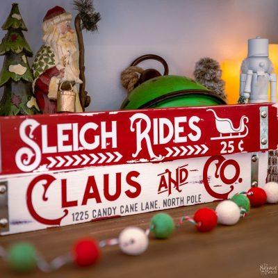DIY Dollar Tree Christmas Signs – TheNavagePatch.com
