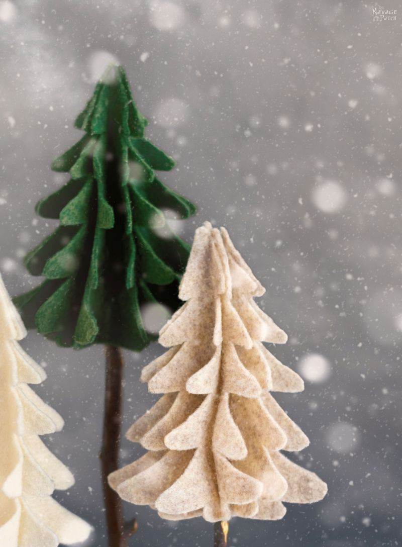 DIY Felt Trees - TheNavagePatch.com