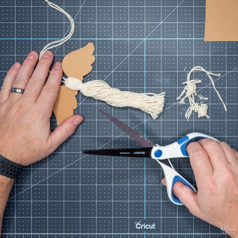 making a tassel angel