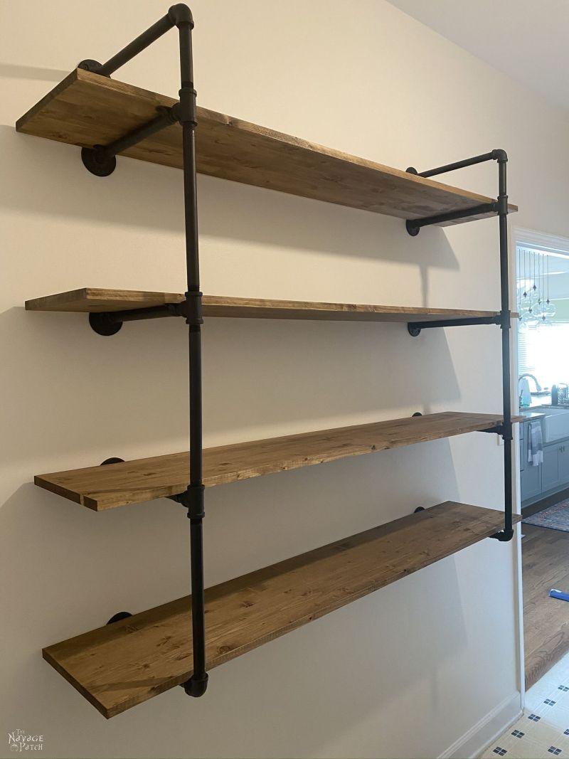 DIY Industrial Pipe Shelves – TheNavagePatch.com