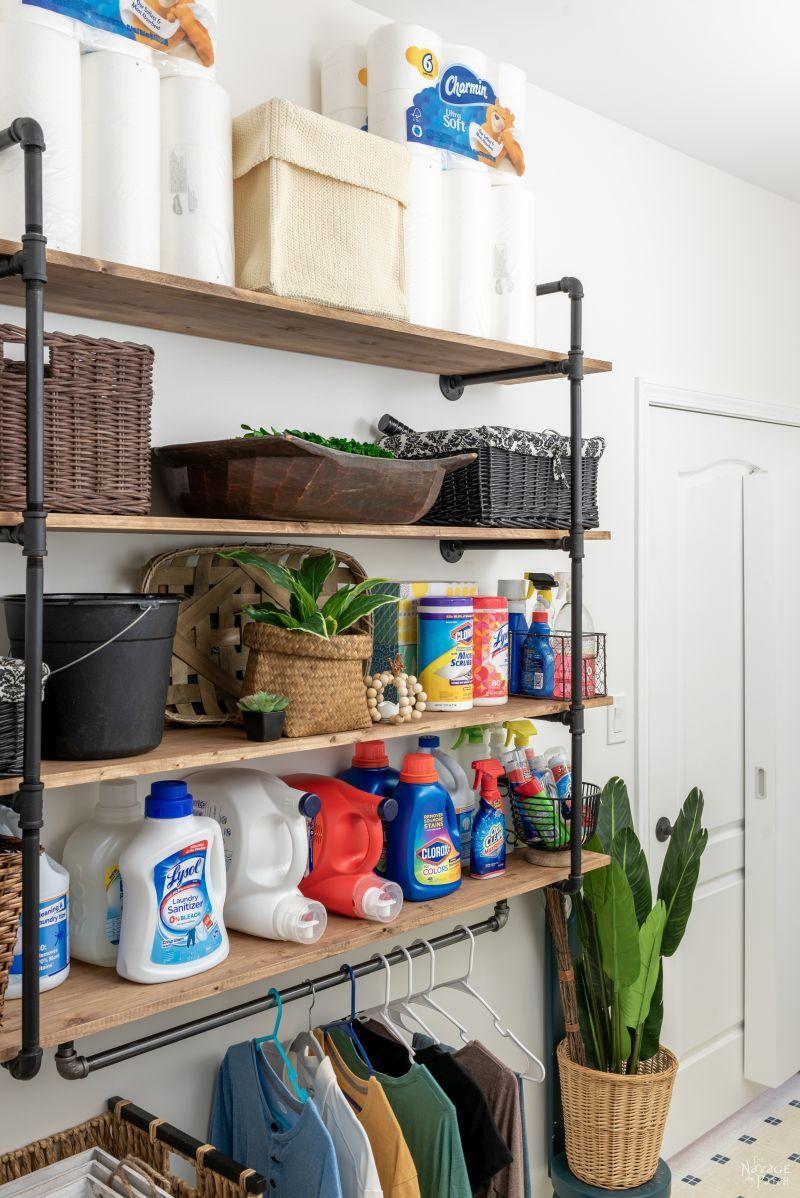 DIY Industrial Pipe Shelves - TheNavagePatch.com