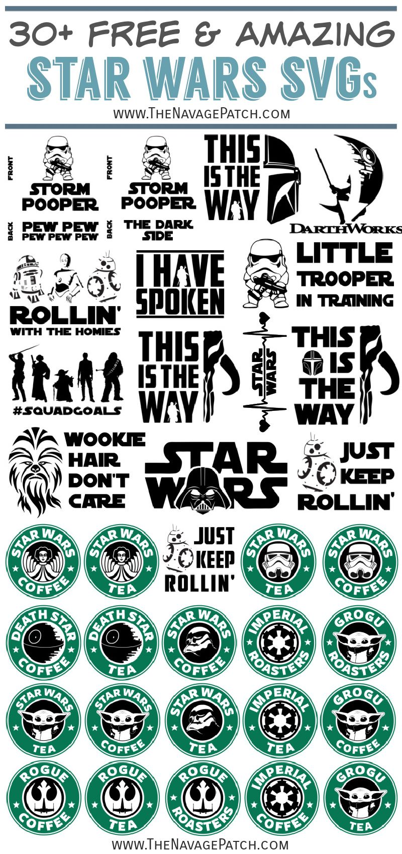 Free Star Wars SVGs - TheNavagePatch.com