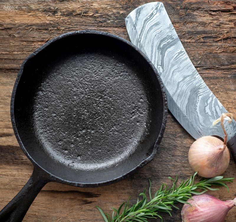 How to restore and season a cast iron pan - TheNavagePatch.com