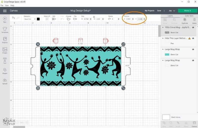Making mugs designs in Cricut Design Space
