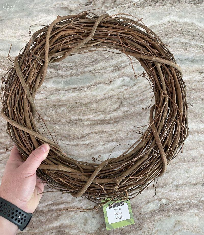 grapevine wreath form