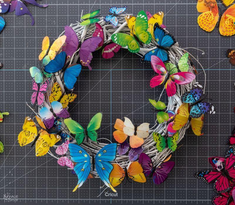 diy butterfly wreath
