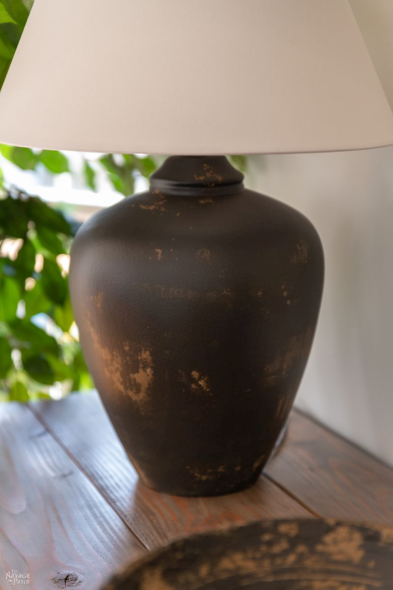 mud painted lamp