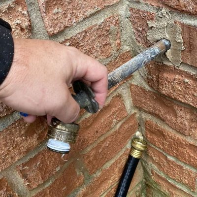 how to replace a hose bib - TheNavagePatch.com