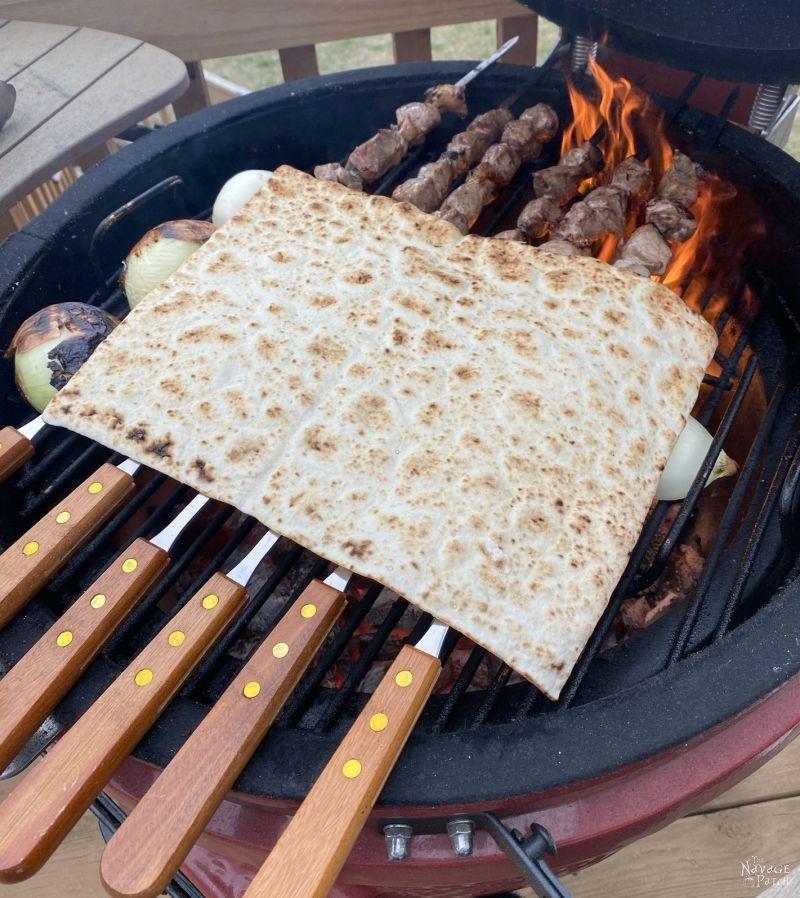 grilling lamb shish kebab