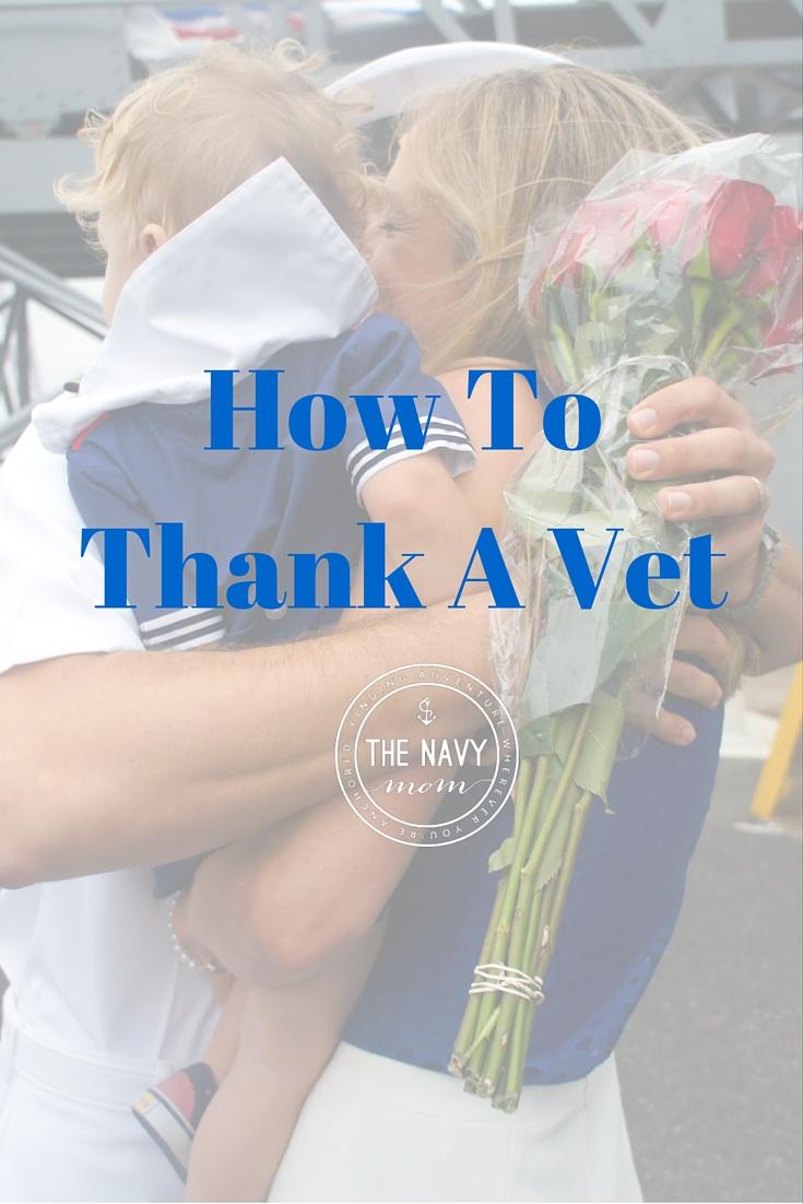 How to Thank a Vet http://TheNavyMom.com