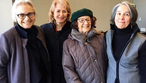 NAWA past presidents: Sonia Stark, Doreen Valenza, Liana Moonie, and Penny Dell