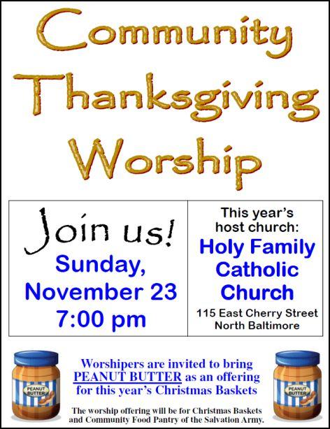 Community Thanksgiving flyer