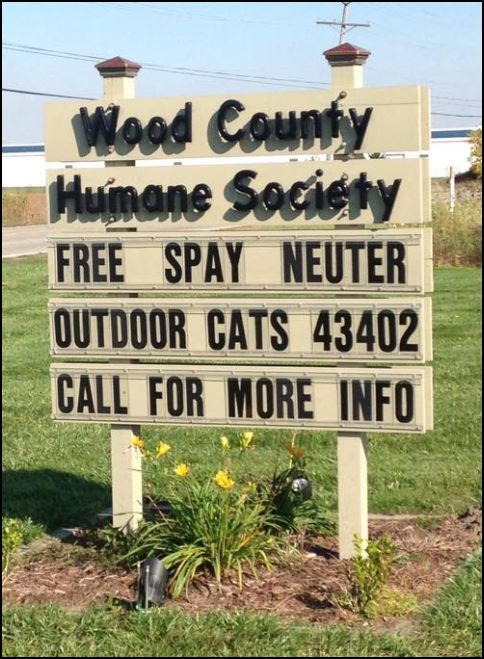 Humane Society Sign