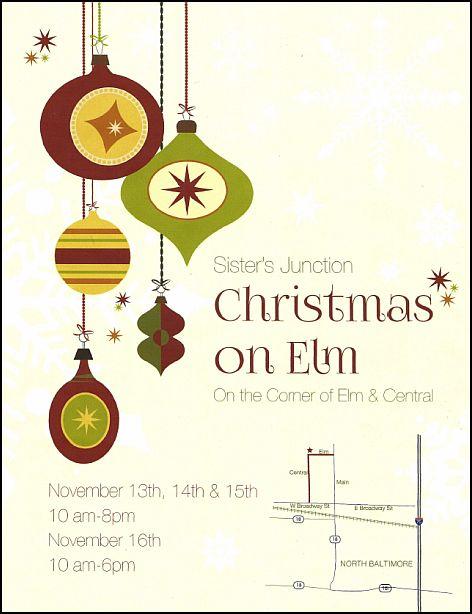 Sisters Christmas 2014 flyer