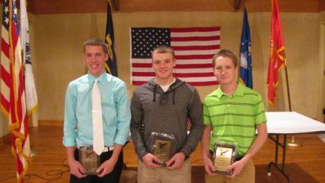 Jacob Pelton, Jamison Jacobs, AJ Hotaling represented Post 539 at Buckeyes Boys State