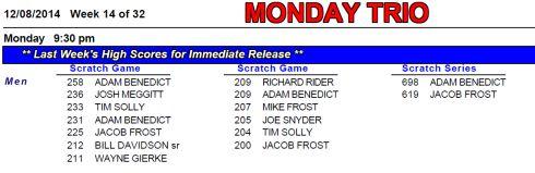 10 Monday Trio Week 14