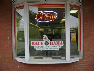 Race o Rama OPEN sign