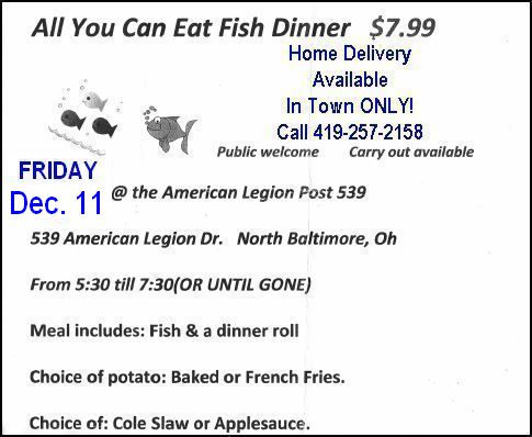 Legion Fish Fryday Tonight!