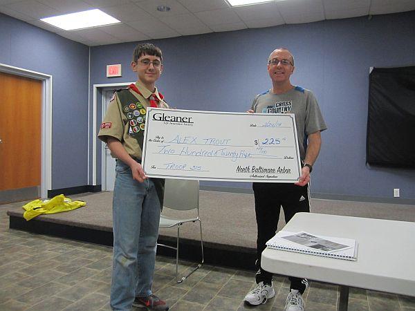 Gleaner Arbor #461 Presents Donations