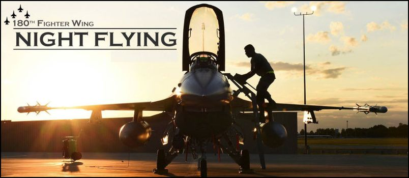 Toledo Air National Guard Unit Performing Night Flying