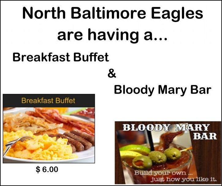 NB Eagles Breakfast Buffet & Bloody Mary Bar