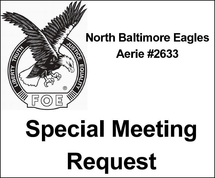 NB Eagles Aerie #2633 Special Meeting
